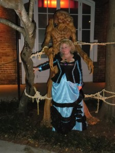 Kimberly & Pumpkinhead at The Vampire Lestat Ball in New Orleans